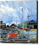 Stormy Sky Over Shipyard And Steel Mill Canvas Print