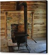 Stove In A Cabin Canvas Print by Jeff Moose