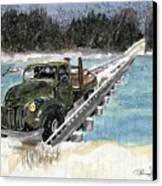 Stranded On Rockford Bridge Canvas Print
