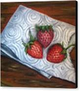 Strawberries-3 Contemporary Oil Painting Canvas Print