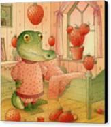 Strawberry Day Canvas Print