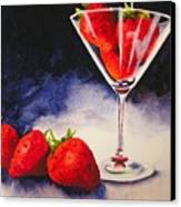Strawberrytini Canvas Print