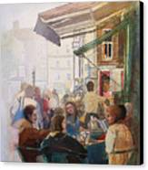 Street Cafe Canvas Print