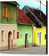 Street Of Wine Cellar Houses  Canvas Print by Mariola Bitner