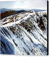 Striding Edge Leading To Helvellin Sumit  Canvas Print