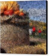 Strolling Through Autumn Canvas Print