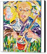 Student At The Golden Pot Canvas Print