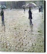 Study For A Paris Street Rainy Day Canvas Print by Gustave Caillebotte