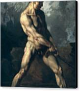 Study Of A Male Nude Canvas Print