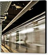 Subway Blur Canvas Print by Barry C Donovan