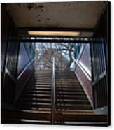 Subway Stairs To Freedom Canvas Print