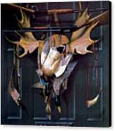 Successful Hunter  Door Art Canvas Print