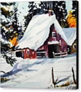 Sugar Shack At Grande Mere Canvas Print