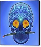 Sugar Skull Canvas Print by Nelson Dedos Garcia