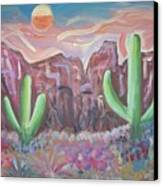Suggestive Desert Lands Canvas Print