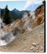 Sulfur Works In Lassen Volcanic Park Canvas Print by Christine Till