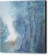 Sulle Soglie Del Bosco Canvas Print by Michel Croteau