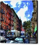 Sullivan Street In Greenwich Village Canvas Print by Randy Aveille