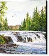 Summer At Buttermilk Falls Canvas Print