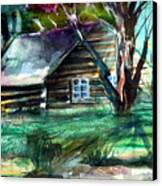 Summer Cabin Canvas Print by Mindy Newman
