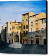 Summer Evening In San Gimignano Canvas Print