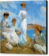 Summer Canvas Print by Frank Weston Benson