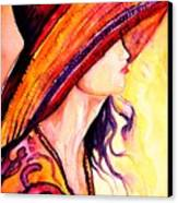 Summer Hat Canvas Print
