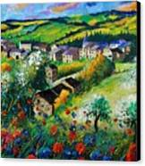 Summer In Rochehaut Canvas Print