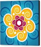 Summer Spiral Canvas Print