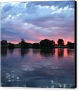 Summer Sunset On Yakima River 4 Canvas Print