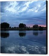 Summer Sunset On Yakima River 5 Canvas Print