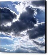 Sun Breaking Through The Clouds Canvas Print