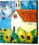 Sun Flowers Dance At San Marin Canvas Print