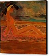 Sun Goddess Canvas Print by Marie Bulger