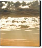 Sun Rays And Clouds Over Santa Cruz Canvas Print