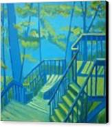 Suncook Stairwell Canvas Print by Debra Bretton Robinson