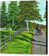 Sunday Drive Canvas Print by Charlotte Blanchard