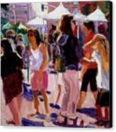 Sunday Market Canvas Print