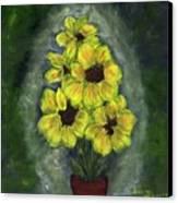 Sunflower Season - Www.jennifer-d-art.com Canvas Print