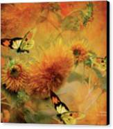 Sunflowers Canvas Print by Carol Cavalaris