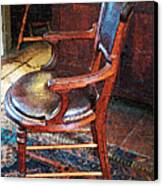 Sunlight On Leather Chair Canvas Print