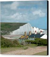 Sunlight On The Seven Sisters Canvas Print