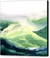 Sunlit Mountain Canvas Print
