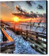 Sunrise At Cotton Bayou  Canvas Print by Michael Thomas