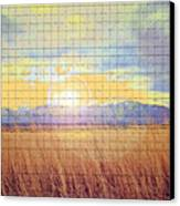 Sunrise Field 2 - Mosaic Tile Effect Canvas Print
