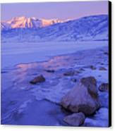 Sunrise Ice Reflection Canvas Print by Chad Dutson
