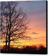 Sunrise In Illinois Canvas Print