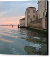 Sunrise On Isola Di San Clemente Venice Canvas Print by Harry Mason