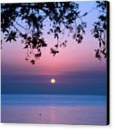 Sunrise Over Sea Canvas Print by Shahbaz Hussain's Photos