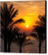 Sunrise Over The Red Sea Canvas Print
